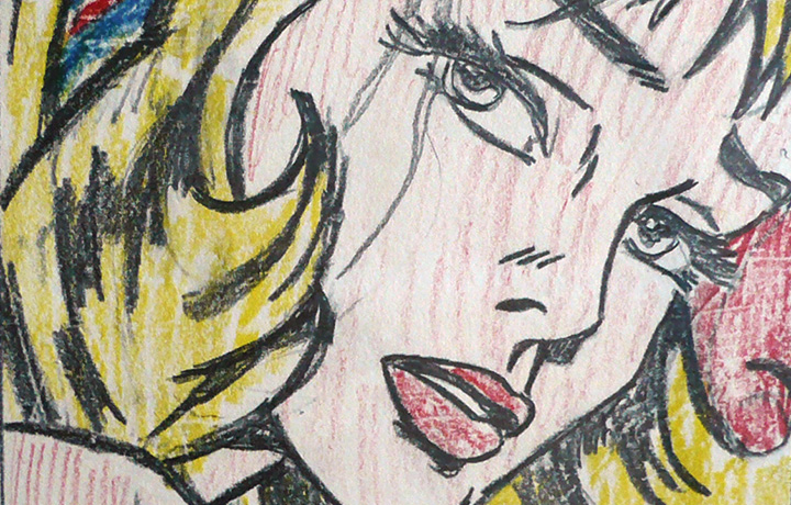 "Dettaglio di ""Study for Pop!"", 1966 © Estate of Roy Lichtenstein / SIAE 2014"