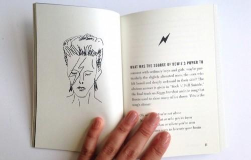 Un dettaglio del nuovo libro di Simon Critchley su David Bowie (foto: Courtney Andujar)