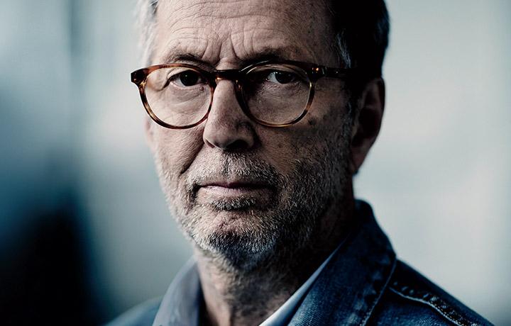 Eric Clapton ritratto da Julian Broad per Rolling Stone. Immagine pubblicata sul nostro numero di settembre