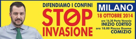 La manifestazione anti immigrati della Lega a Milano