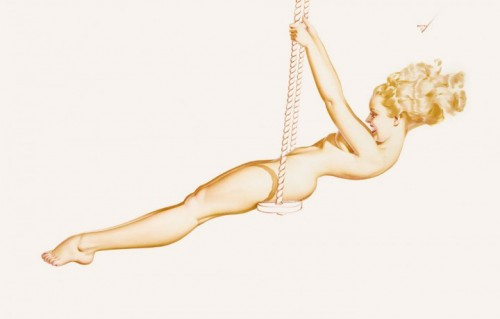 Un'illustrazione tratta da The Art of Pin Up, edito da Taschen