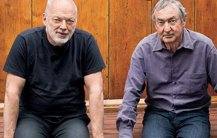 David Gilmour e Nick Mason in un dettaglio della pagina dedicata all'ultimo album dei Pink Floyd nel numero di Rolling Stone di novembre