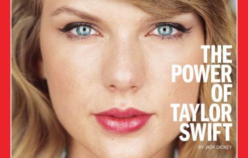 Un dettaglio della copertina di Time con Taylor Swift