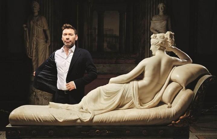 Mat Collishaw alla Galleria Borghese (foto di Guido Harari)