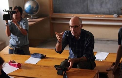 """Gabriele Salvatores sul set de """"Il ragazzo invisibile"""", foto via Facebook"""