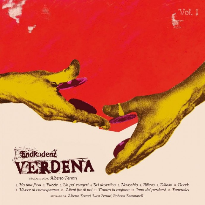 """La copertina di """"Endkadenz Vol.1"""" dei Verdena, in uscita il 27 gennaio 2015"""