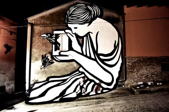 """Il murales """"La radice del male"""""""