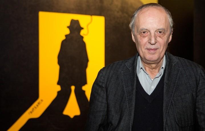 Dario Argento, 74 anni, che sarà premiato questa sera al Noir Festival