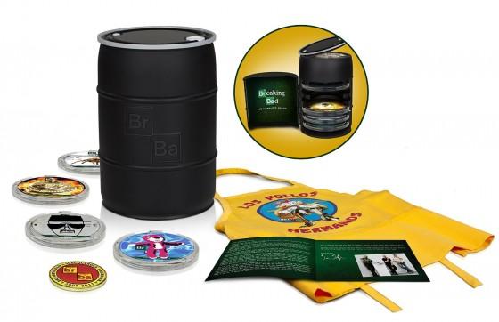 """Il cofanetto di """"Breaking Bad"""" con un barile di 16 dischi Blu-ray"""