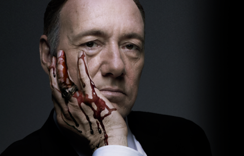 "Kevin Spacey in ""House of Cards"" è Frank Underwood, cinico deputato democratico americano"