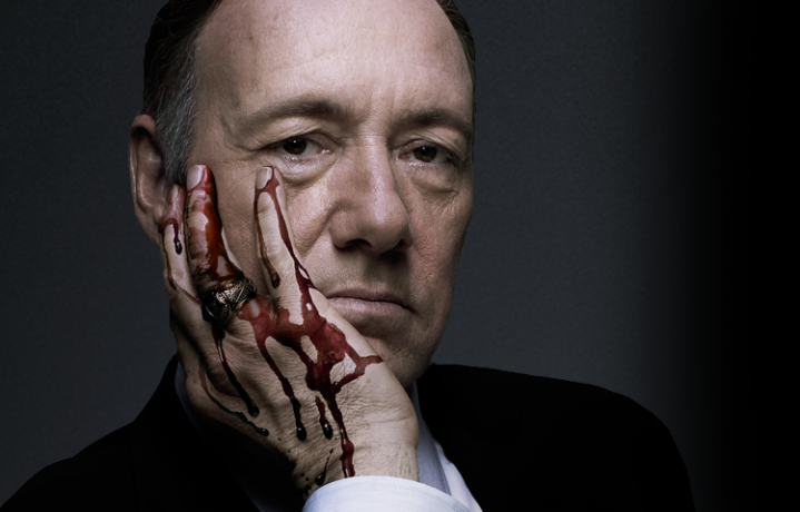 "Kevin Spacey in ""House of Cards"" è Frank Underwood, cinico deputato democratico americano"
