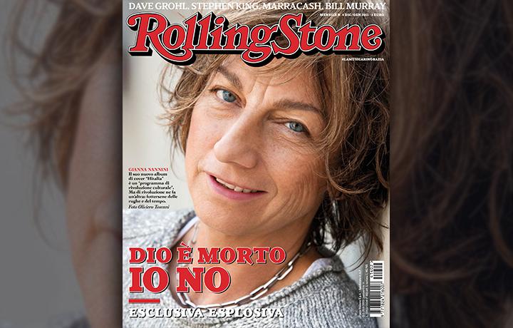 Gianna Nannini sulla copertina di Rolling Stone di dicembre-gennaio, fotografata da Oliviero Toscani, senza trucco. Se ne fotte delle rughe e del tempo