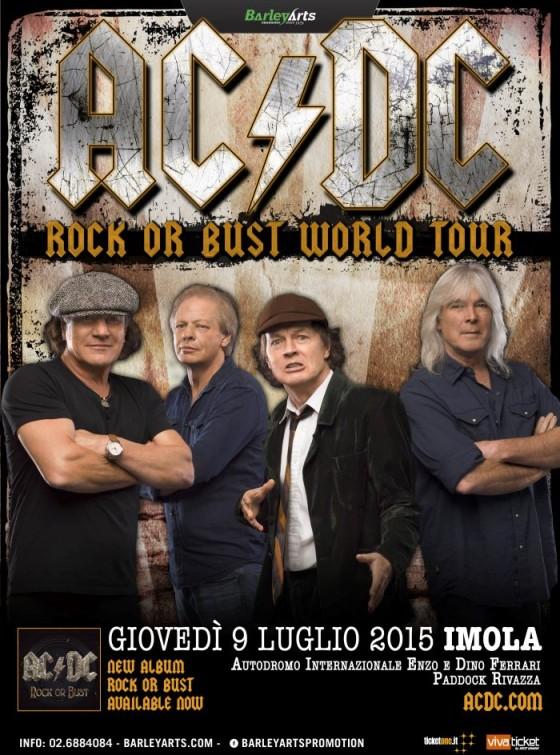 "La locandina del ""Rock or Bust Tour"""