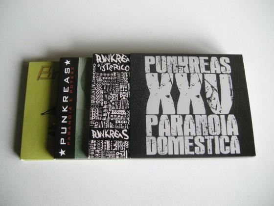 """Il cofanetto """"Punkreas XXV Paranoia Domestica"""", con i primi 4 album"""