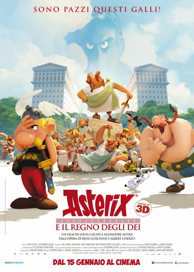 La locandina di Asterix, il regno degli Dei . In uscita il 15 gennaio 2015