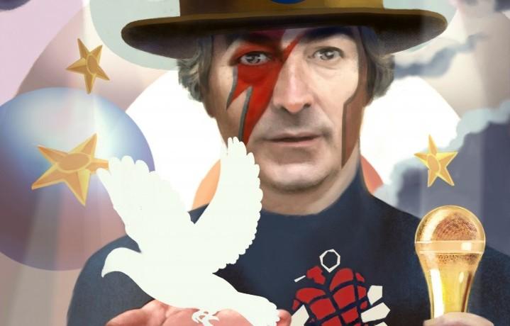 """Roberto De Luca, presidente di Live Nation Italia. Un dettaglio dell'illustrazione di Paolo Daltan per """"Rolling Stone"""""""