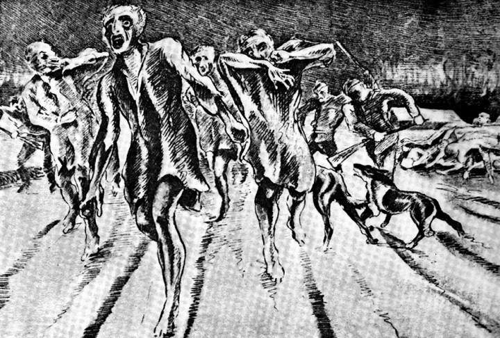 """""""Arrivo"""", di Mania Pierre, 1943. Una delle immagini raccolte da Arturo Benvenuti"""