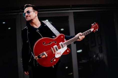 La Gretsch rossa di Bono