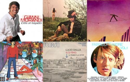 Le copertine di alcune delle canzoni censurate in Italia