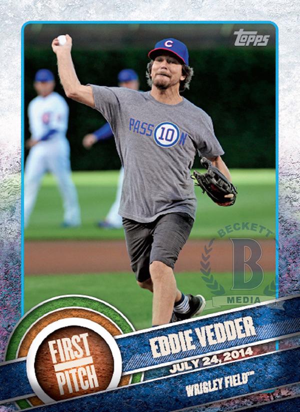 Eddie Vedder con la maglia dei Chicago Cubs