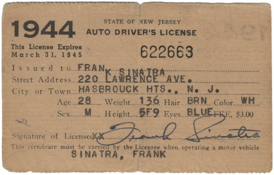 La patente di Frank Sinatra