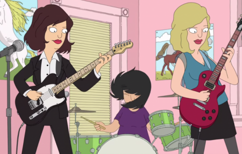 "Un frame del nuovo video di ""A New Wave"" delle Sleater-Kinney"