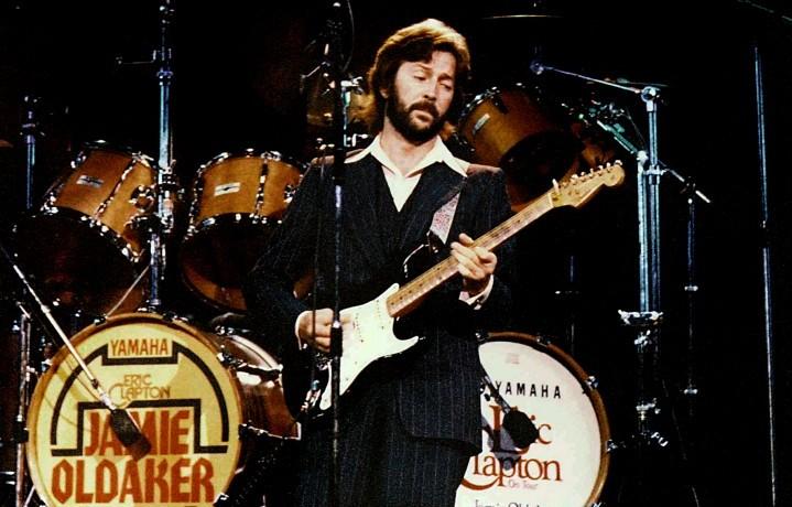 Eric Clapton con la sua storia 'Blackie' Stratocaster