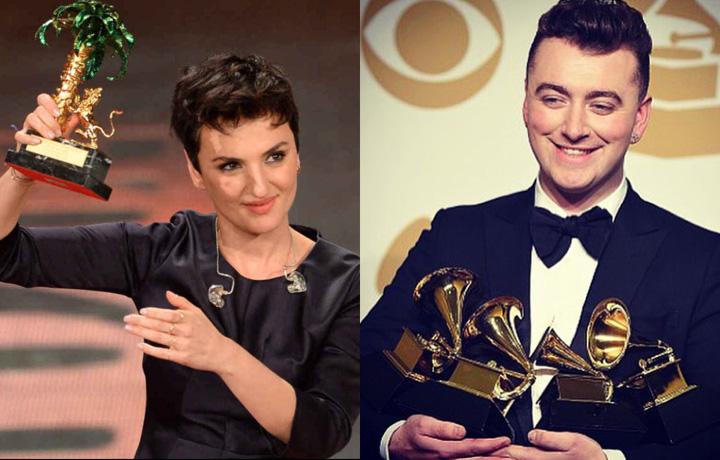 Sam Smith ha trionfato ai Grammy, Arisa ha vinto lo scorso Festival di Sanremo