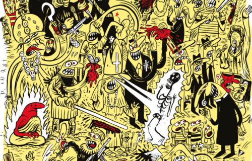 Un dettaglio di una delle illustrazioni del nuovo numero di L'antitempo