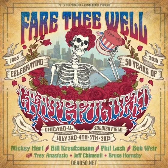 La locandina dell'ultimo concerto dei Grateful Dead