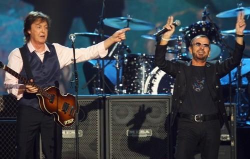 Mc Cartney (72) e Starr (74). Foto: AP File