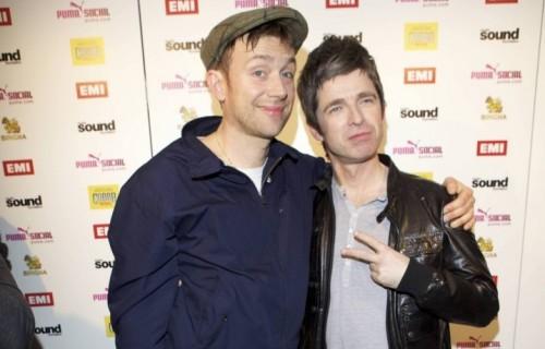 Albarn dei Blur e Gallagher ai Brit Awards del 2012, quando ormai avevano fatto pace.