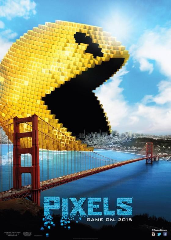"""La locandina del film """"Pixels"""""""