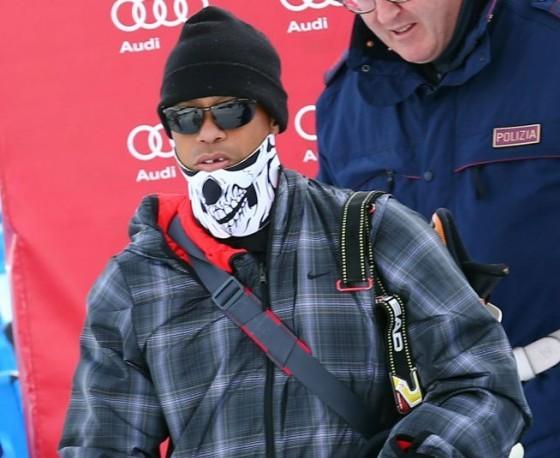 Tiger Woods sulle piste di Cortina