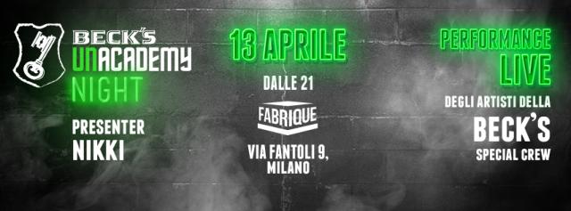 Al Fabrique di Milano un evento davvero UNusual a ingresso gratuito con la performance live dei 5 tutor musicali, presentato da Nikki (Radio Deejay)