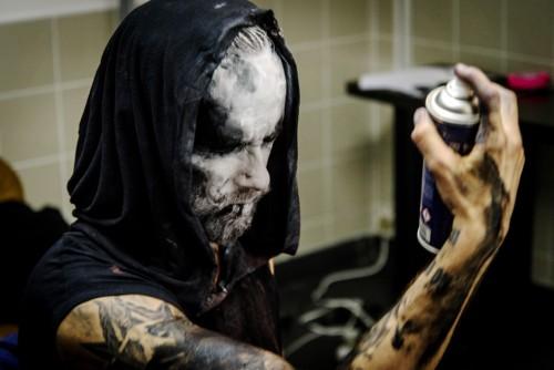 Adam Nergal, leader dei Behemoth prima del concerto a Roma il 15 aprile scorso