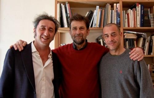 Da sinistra: Sorrentino, Moretti e Garrone n corsa per la Palma d'Oro