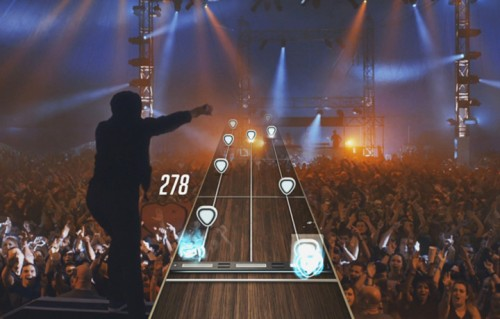 "Uno screenshot del nuovo ""Guitar Hero"""