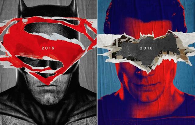 """La locandina teaser di """"Batman V Superman: Dawn of Justice"""", che uscirà nel 2016"""