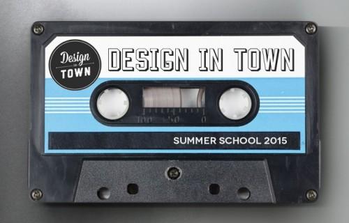 La cover della playlist della Summer School Design in Town 2015.