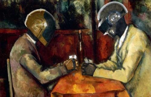"""I Daft Punk dentro """"I Giocatori Di Carte"""" di Paul Cézanne, Leonardo Di Caprio nell'autoritratto di Van Gogh e poi Miley Cyrus, Lana Del Rey, Yoda e anche Jack Nicholson entrano nei quadri più conosciuti attraverso un Tumblr"""