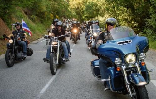La parata del nono Euro Festival Harley Davidson, organizzato in partnership con Jeep
