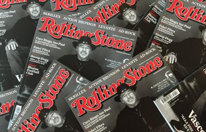 Vasco Rossi sulla copertina del numero di maggio di Rolling Stone