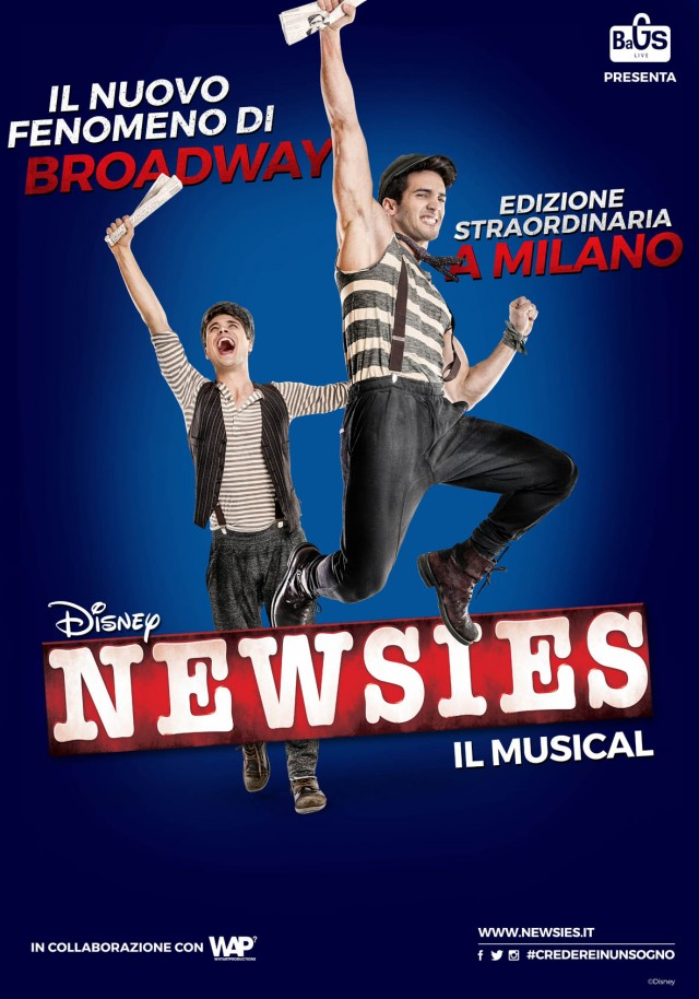 """""""Newsies, il musical"""", le prevendite saranno disponibili dalle ore 15 del 18 maggio su circuito Ticketone"""
