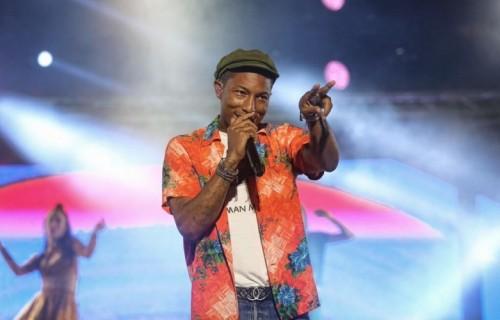 """Pharrell Williams, 42 anni, """"felice come una stanza senza soffitto"""" al Mawazine Festival, Rabat, Marocco, il 30 maggio. Foto Jacob ZawaQ"""