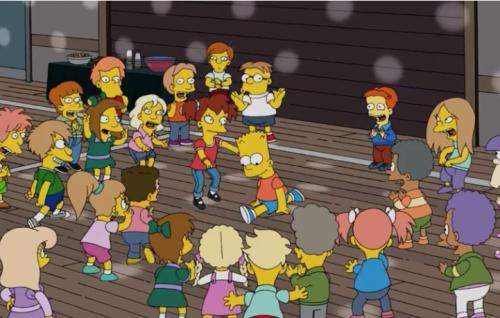 """La spaccata di Bart Simpson su """"Get lucky"""""""