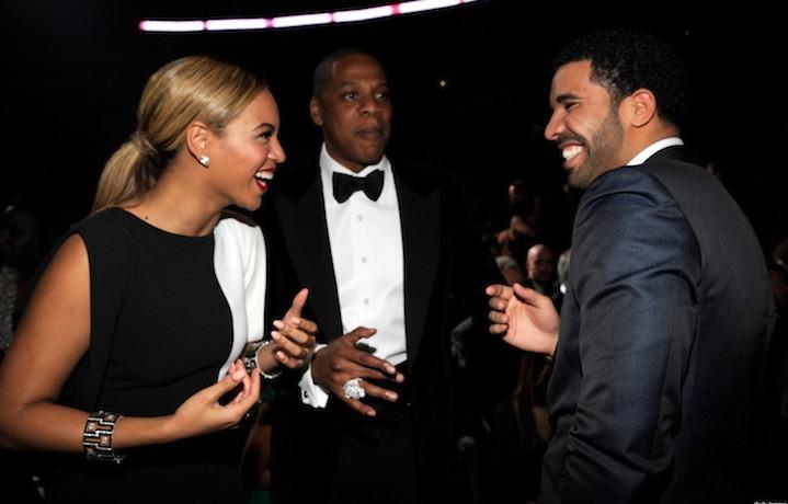 Drake e Beyoncé all'edizione 55 dei Grammy. Fonte: Facebook