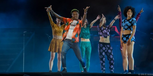Pharrell Williams, il mago del pop, durante la sua conquista del Marocco. Foto © Sife El Amine
