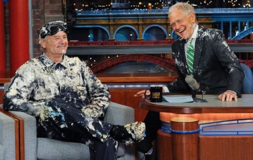 David Letterman e Bill Murray nella penultima puntata dello show