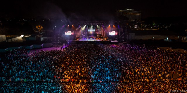 Il palco principale del Mawazine Festival durante il concerto di Jennifer Lopez. Foto © Sife El Amine